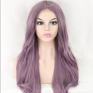 Lila Purple Synthetic Front Lace Wig
